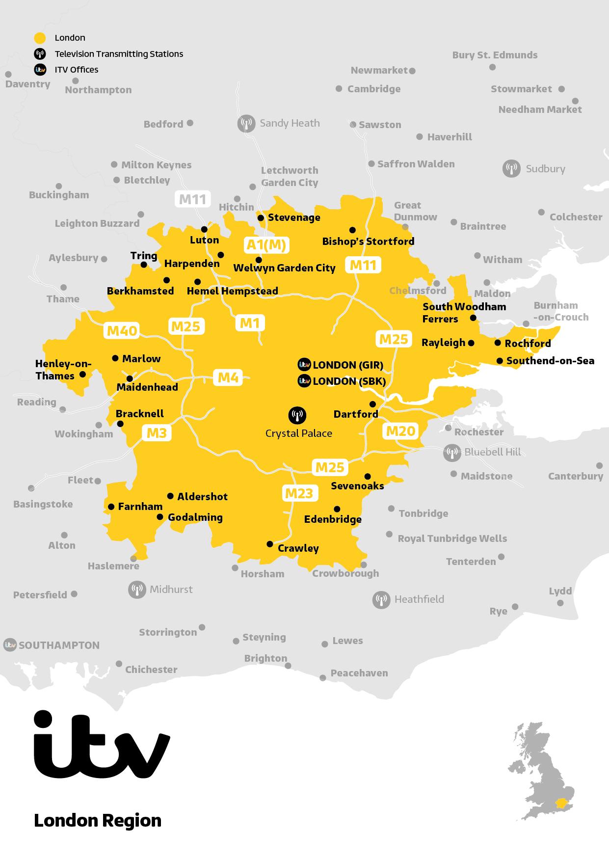 London map 2019